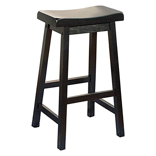 Target Marketing Systems 30 Inch Arizona Wooden Saddle Stool Black Outdoor Bar Stool Shop
